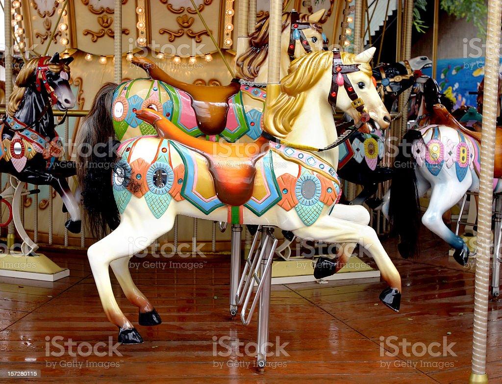 Carousel Horses on Merry-go-round royalty-free stock photo
