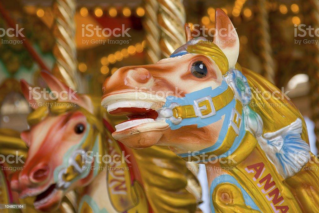 Carousel Horses royalty-free stock photo