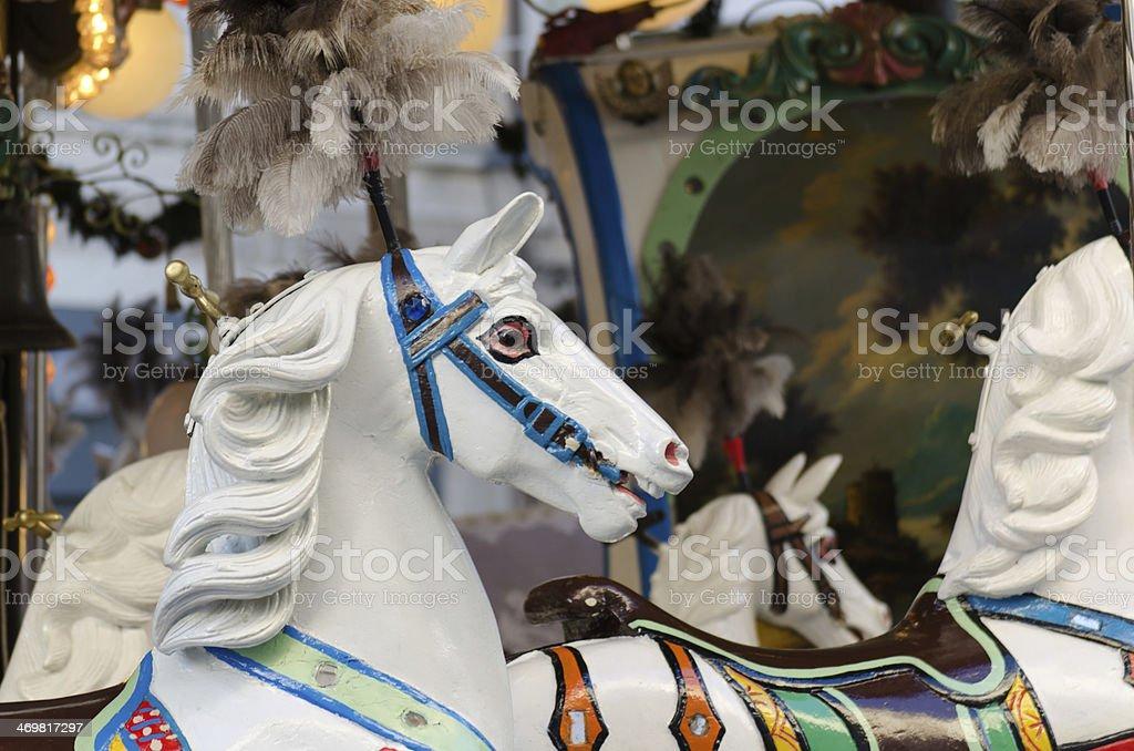carousel horses stock photo