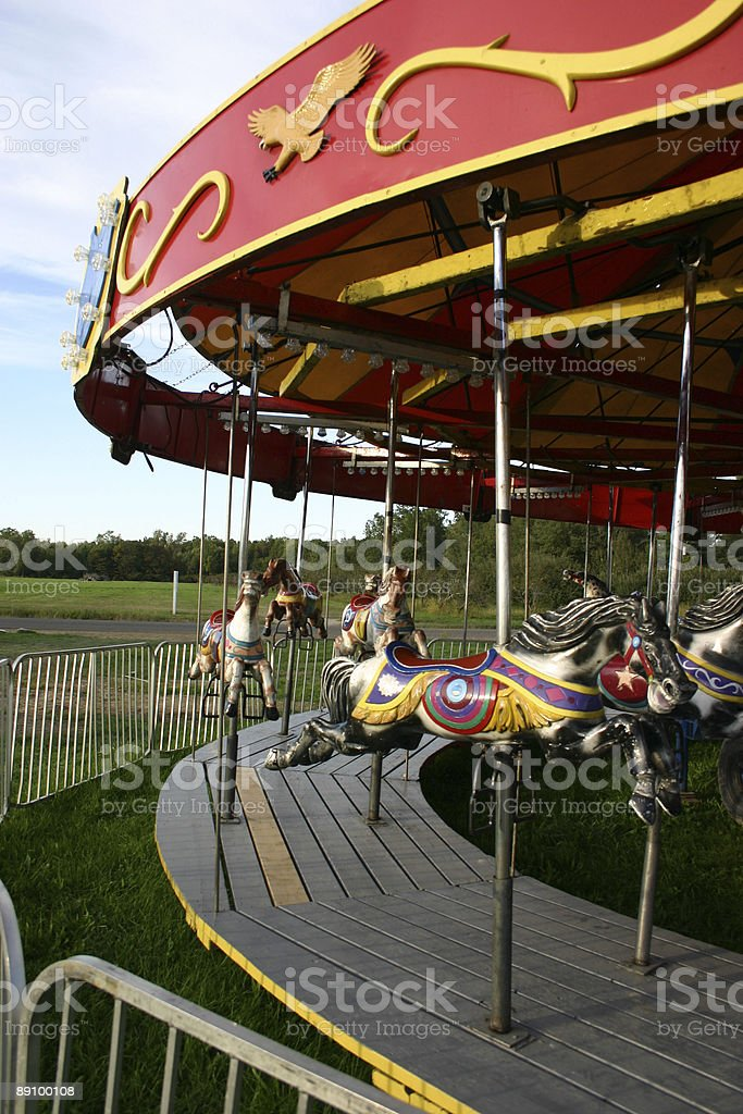 Carousel Horses royalty-free stock photo