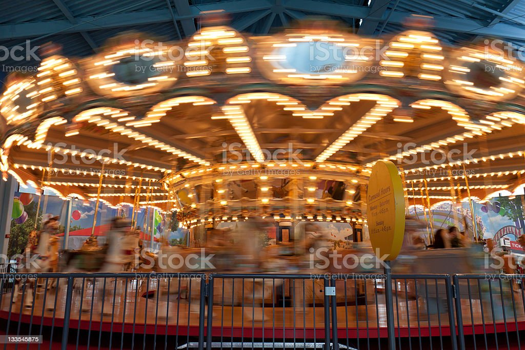 Carousel in motion stock photo