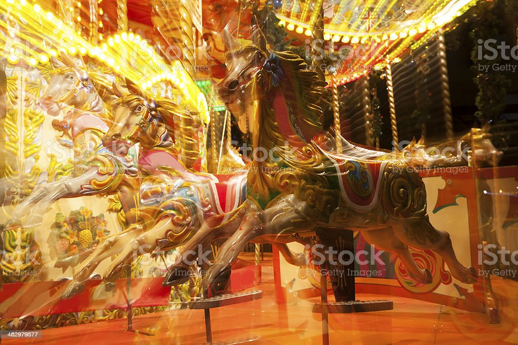 Carousel in Motion royalty-free stock photo