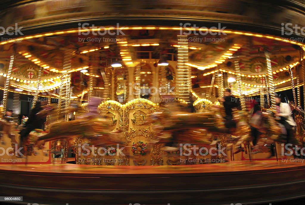 Carousel in motion royalty free stockfoto