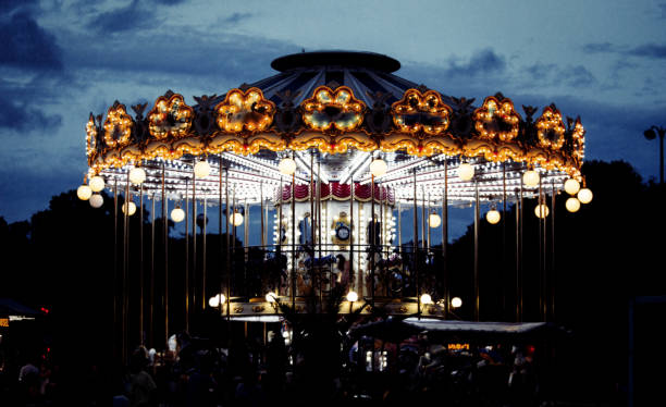 Carousel lights stock photo