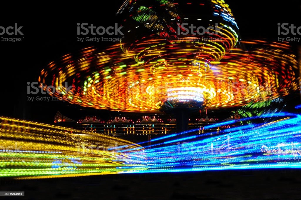Carousel Motion Blur stock photo