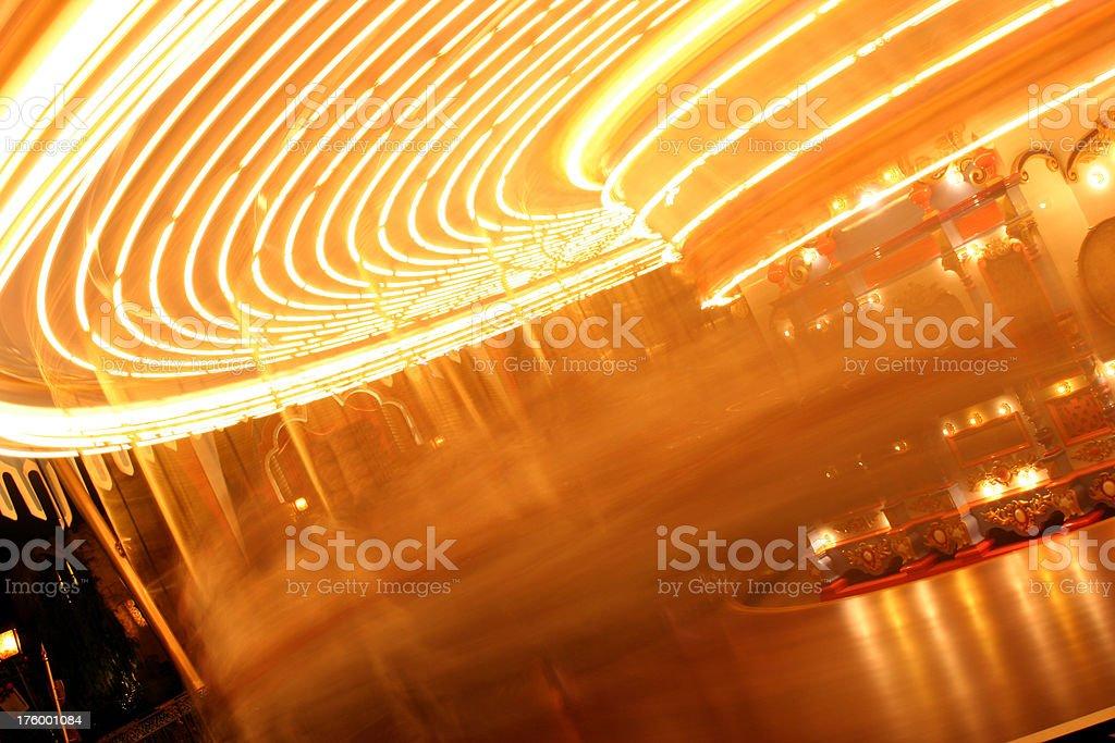 Carousel Motion Blur Slow royalty-free stock photo