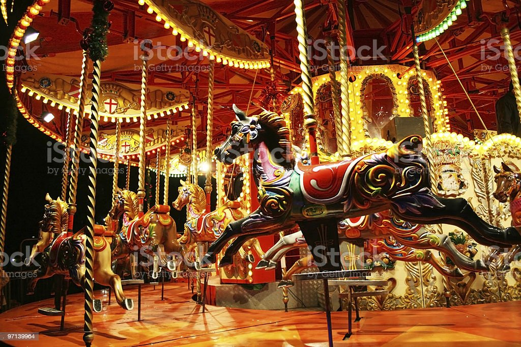 Carousel royalty-free stock photo