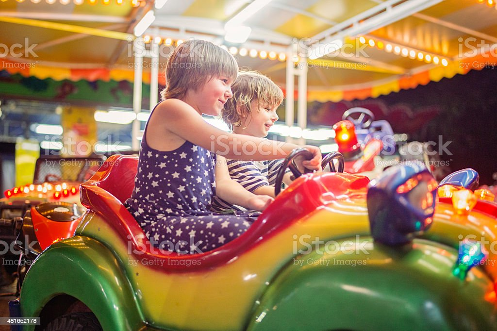 Carousel Ride - Royalty-free 2-3 Years Stock Photo