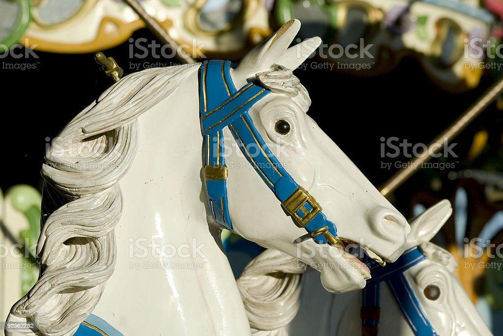 Karussell white horse head Lizenzfreies stock-foto