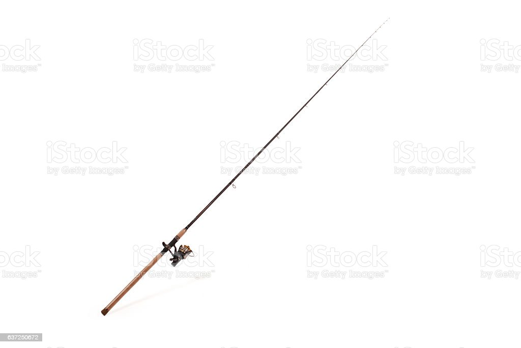 Carp feeder fishing rod stock photo