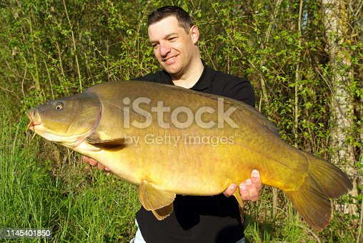 1145410808istockphoto Carp fishing. Catch of fish 1145401850