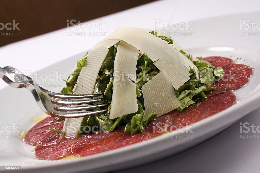 Carpaccio Italian Salad royalty-free stock photo