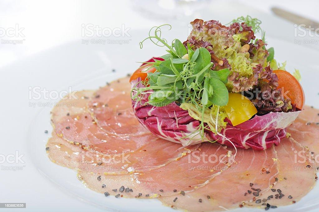 Carpaccio of Tuna royalty-free stock photo
