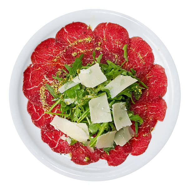 carpaccio über dem - carpaccio salat stock-fotos und bilder