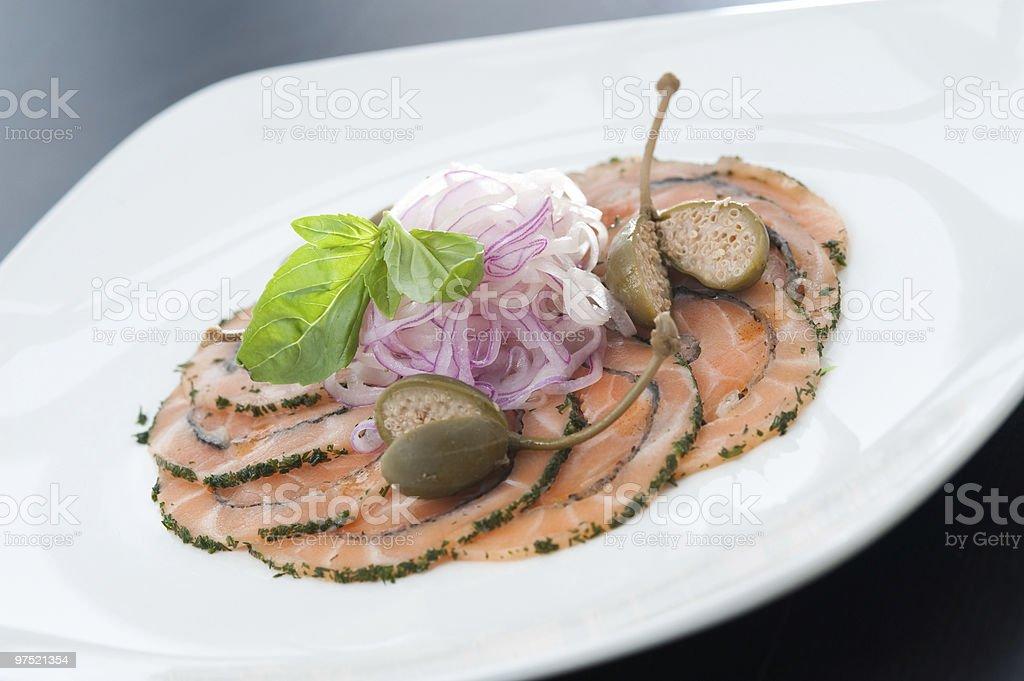 Carpaccio Salmon royalty-free stock photo