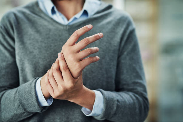 Carpal tunnel syndrome can be a pain stock photo