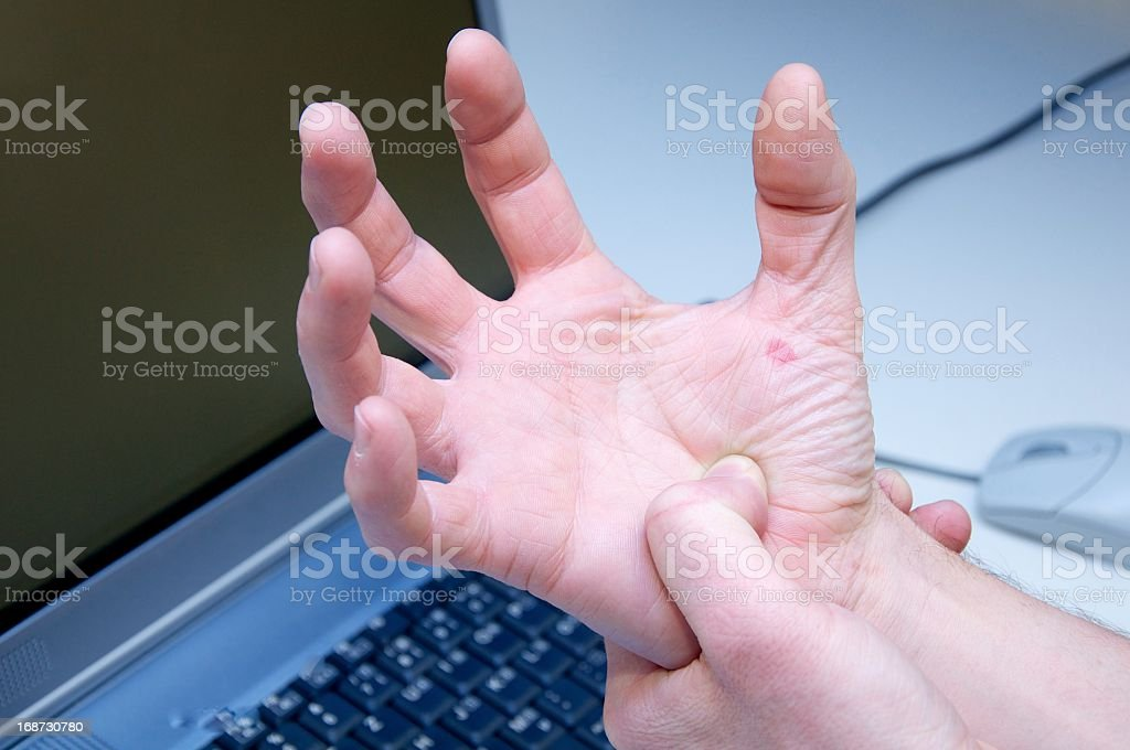 Carpal Tunnel Syndrome - Pain royalty-free stock photo