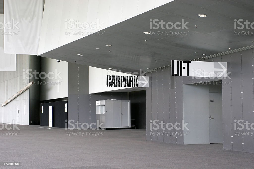 Carpark Lift stock photo