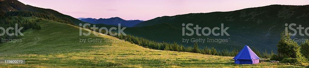 Carpathian dawn royalty-free stock photo