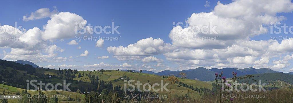 Carpathian landscape royalty-free stock photo