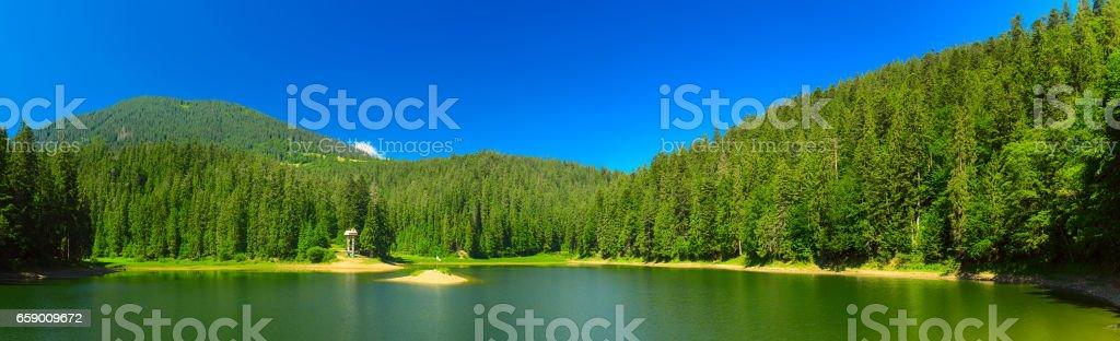 Carpathian mountain lake royalty-free stock photo