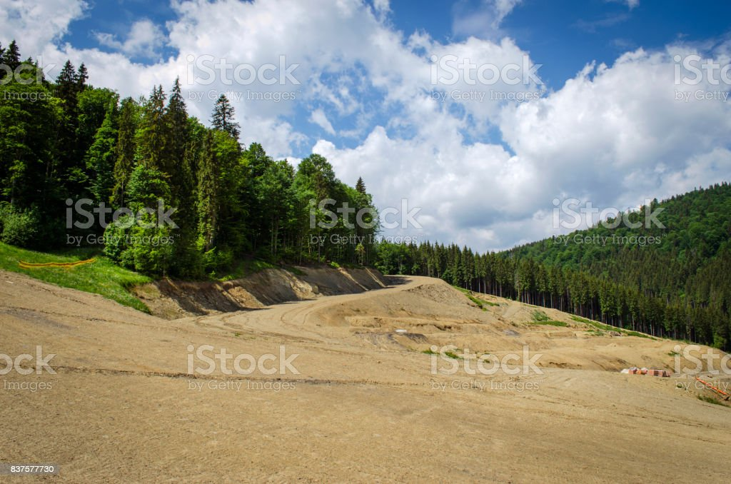 Carpathian mountains in summer stock photo