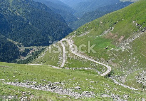 Carpathian mountains - Road in Mount Fagaras