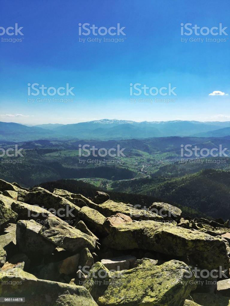 Carpathian mountains zbiór zdjęć royalty-free