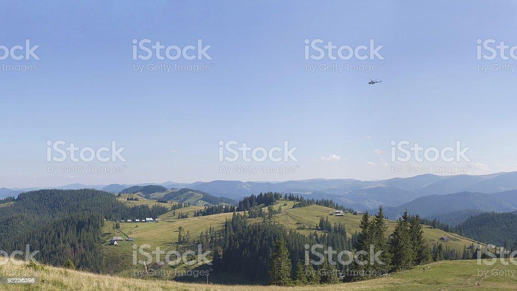 Carpathian summer scene royalty-free stock photo