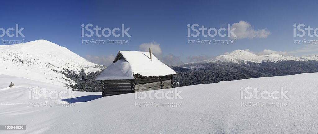 Carpathians in winter royalty-free stock photo