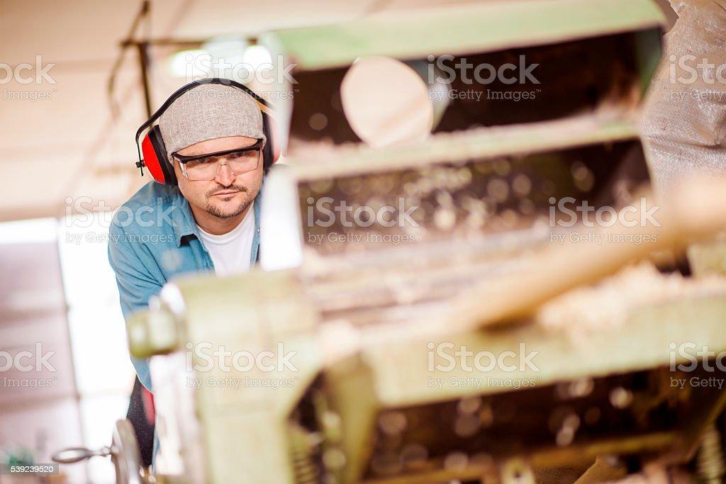 Carpintero de trabajo foto de stock libre de derechos