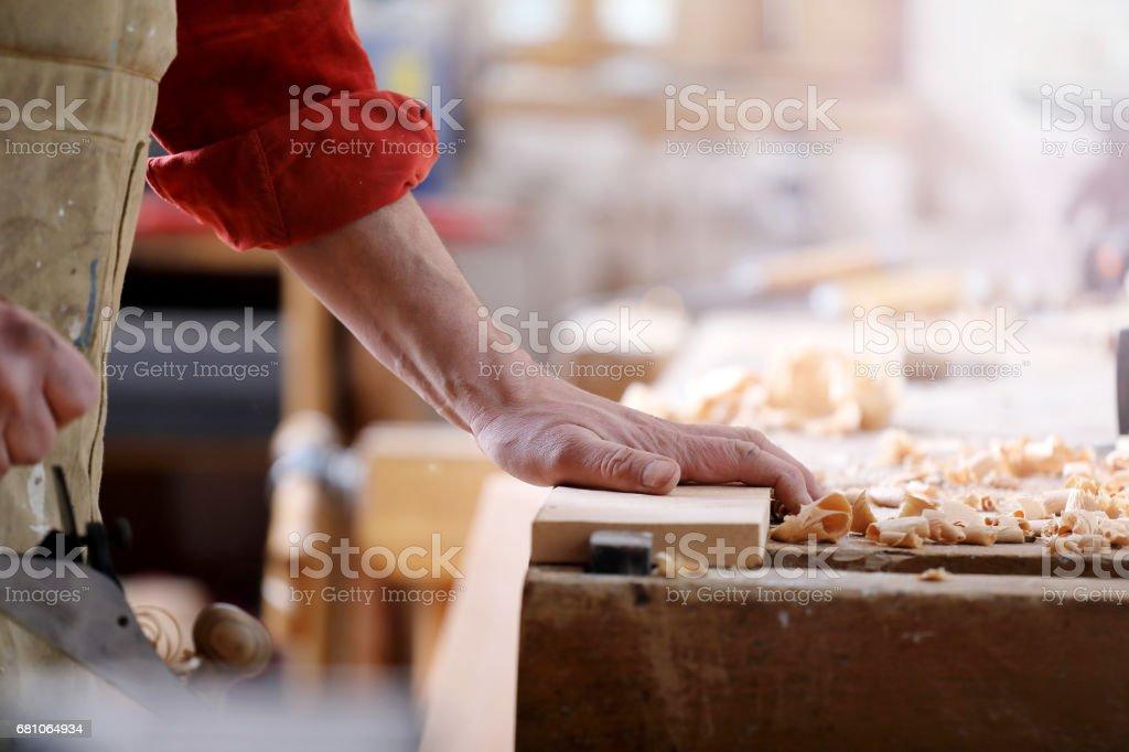 Carpenter at work royalty-free stock photo