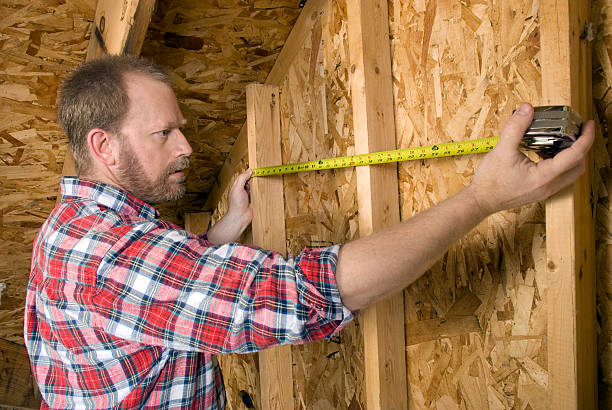 Carpenter Measures Wall stok fotoğrafı