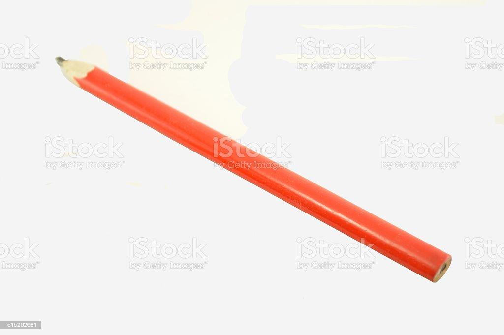 Carpenter pencil stock photo