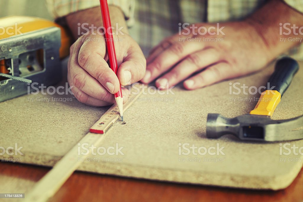 Carpenter royalty-free stock photo