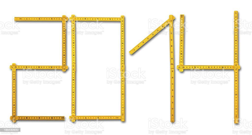 Carpenter rule look like 2014 royalty-free stock photo