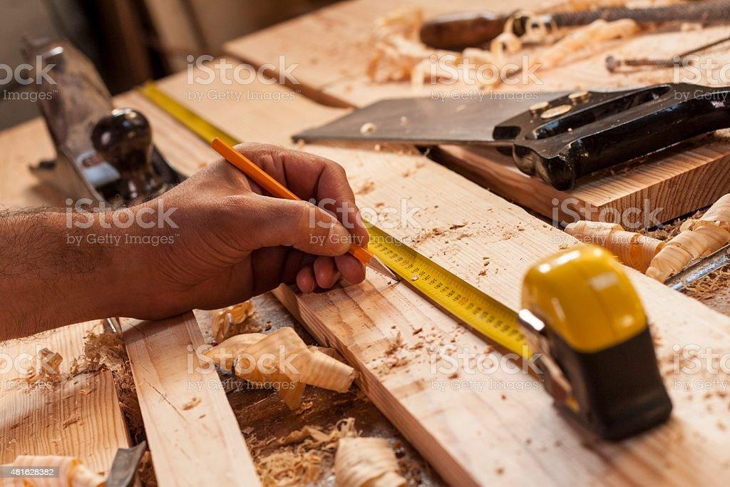 carpenter die Messung – Foto