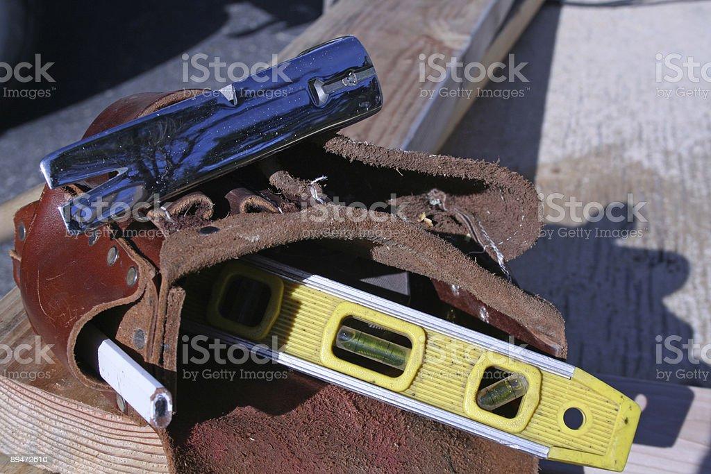Carpenter cinturón de herramientas foto de stock libre de derechos