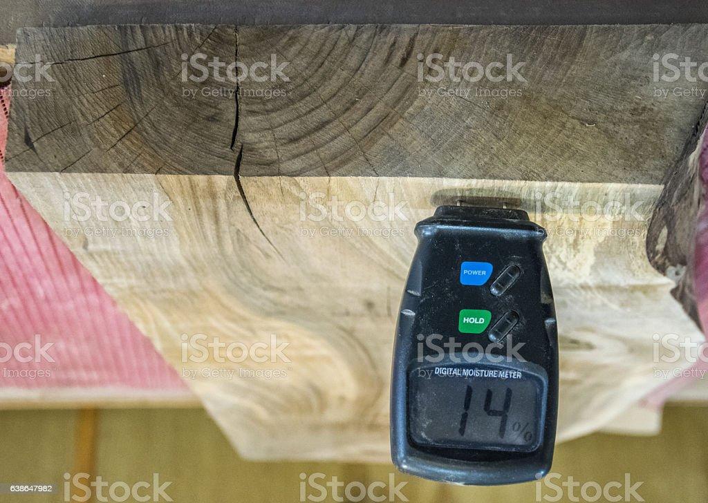 Carpenter tools- Digital moisture meter. royalty-free stock photo