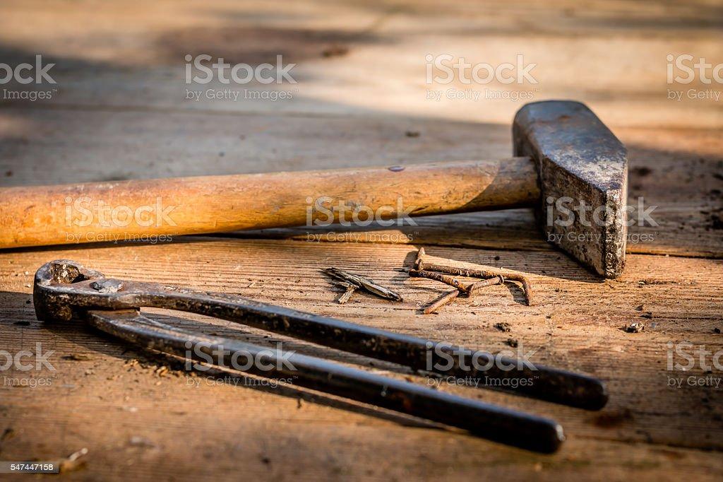 Carpenter tools stock photo