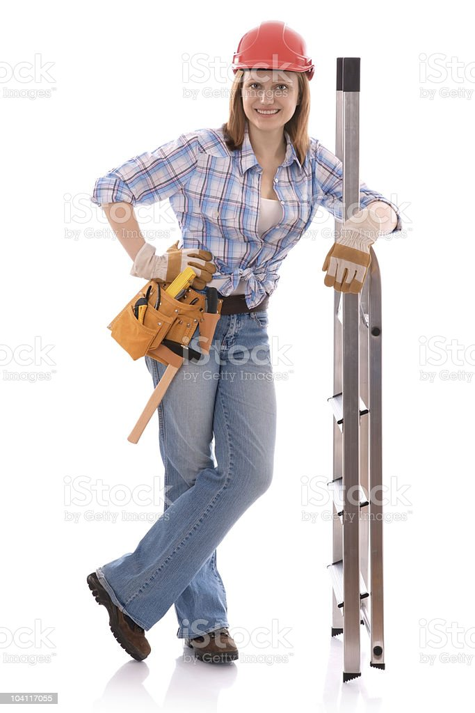 carpenter woman royalty-free stock photo