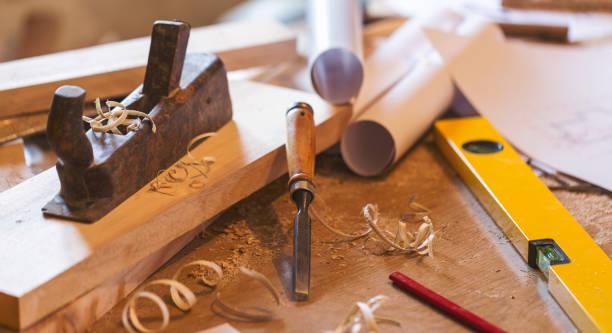 carpinteiro worktools - imagem de estoque - carpinteiro - fotografias e filmes do acervo