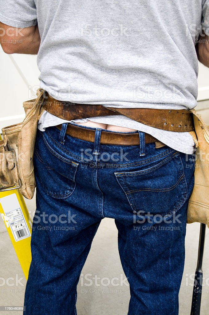 Hairy plumbers butt