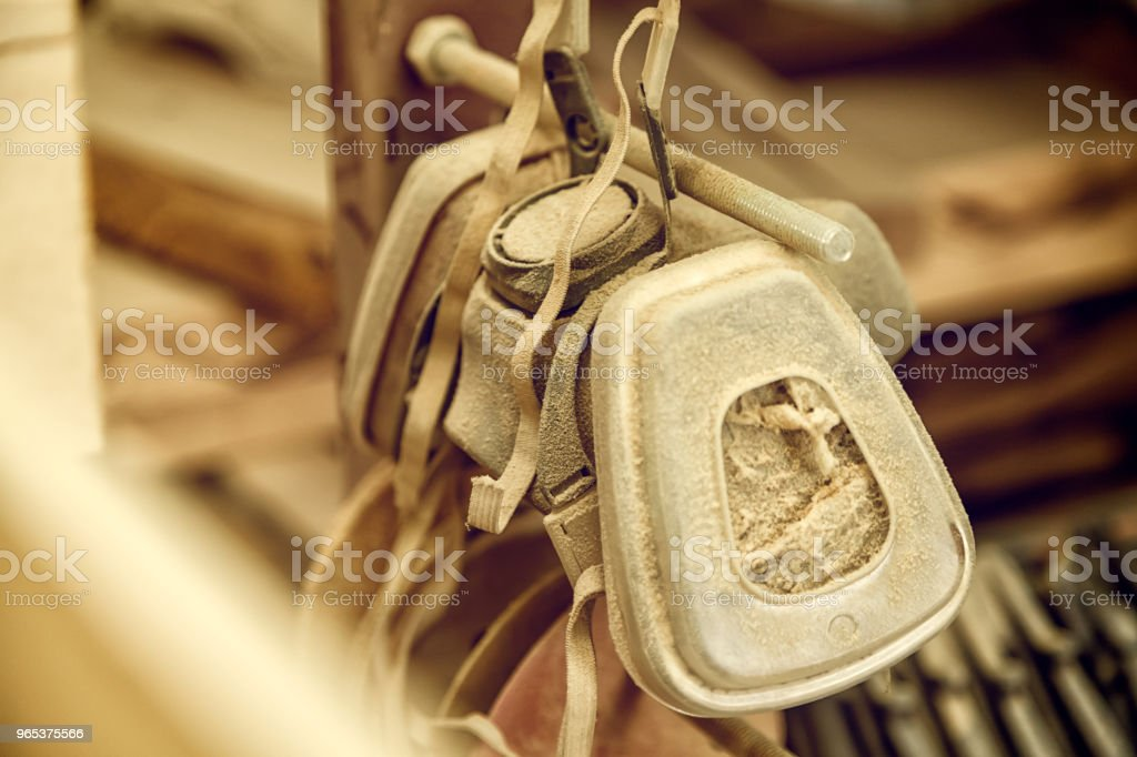 carpenter's protective mask royalty-free stock photo