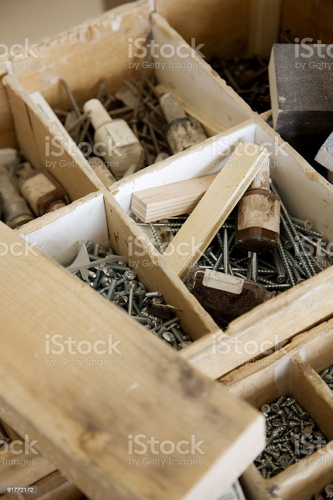 Carpenter's Tool Box stock photo