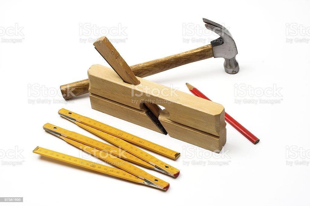 Outils de charpentier photo libre de droits