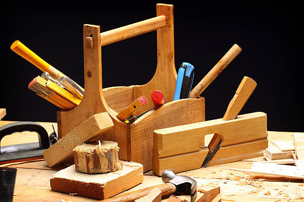 carpenter's tools stock photo
