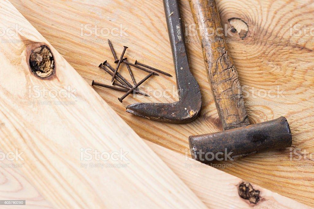 Carpenter's tools stock photo