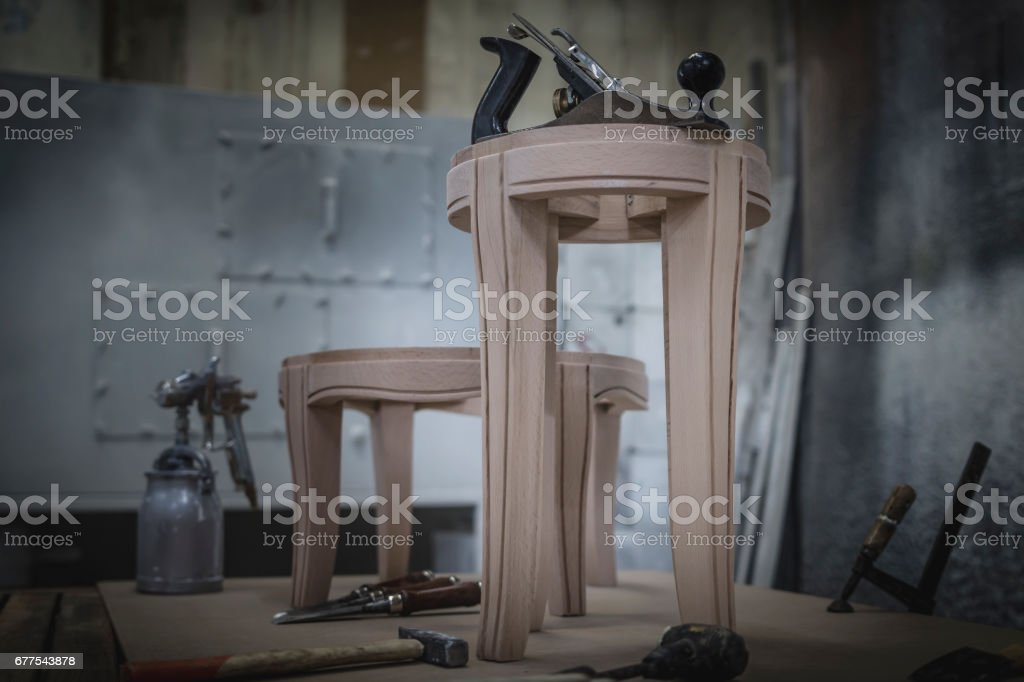 Carpenter's wood work - tools royalty-free stock photo