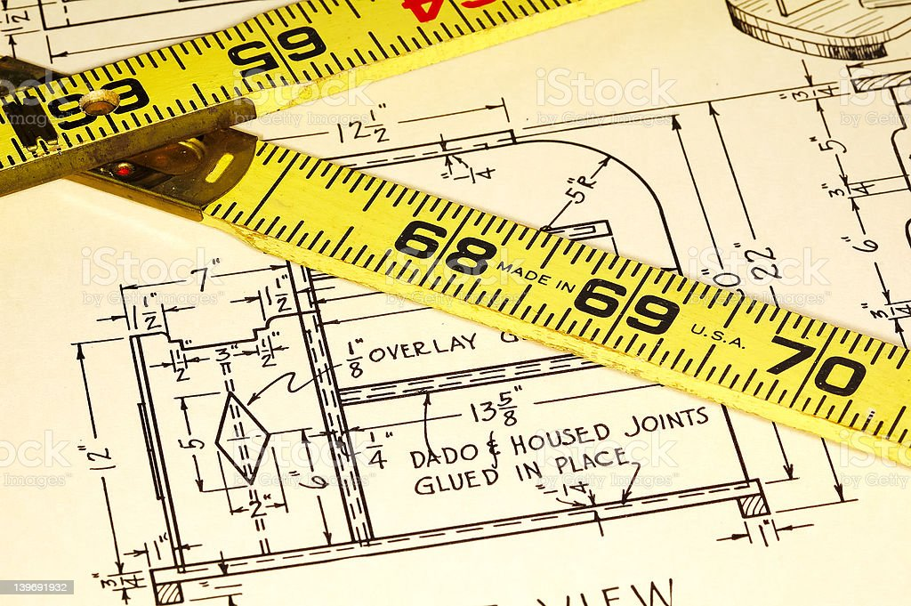 Carpentry Plans royalty-free stock photo